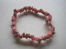Rhodochrosit Splitteramband elastisch Stretchband 19 cm
