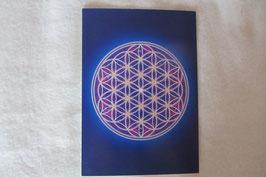 Energiesymbol Energiekarte Blume des Lebens Kartengröße 17 x 12 cm