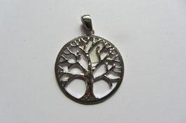 Lebensbaum - Baum des Lebens  25 mm Durchmesser - 925 Silber