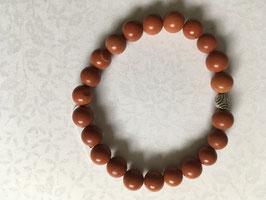 Jaspis rot matt Kugelarmband 6mm, Länge 19 cm elastisch Stretchband