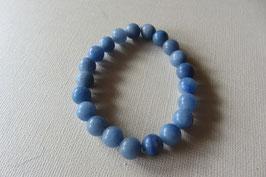 Blauquarz Kugelarmband 8 mm Kugeldurchmesser  18 cm lang elastisch