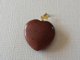 Goldfluss  Herz Anhänger  20 mm goldfarbigen Öse