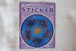 Sonnen Lotus Fensterbild 10,5 cm Durchmesser mit Klebefolie
