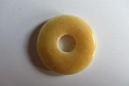 Orangencalcit Donut Anhänger 30 mm Durchmesser