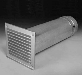 Teleskopmaurerrohr  Länge 300-550 mm mit Brandschutzklappe VKF 15660