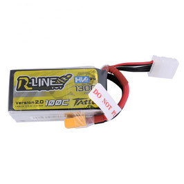 Tattu R-Line 100C 15.2V 1300mAh 4S1P lipo battery pack