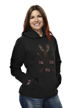 Find Your Wild Hoodie | Perfect hoodie for the Adventuress in you.