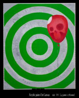 Bad Baloon アクリル画