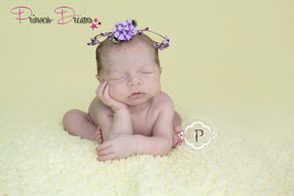 Blütenkranz für Newborns flieder