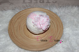 HB683 Blume weiß Herzen rosa/pink