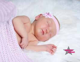 Haarband Blume23 rosa/weiß