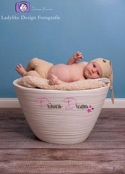 Set Knotenmütze & Hose beige Boys 0-2 Monate