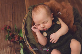 Newborn Mohair Overall moos/grün