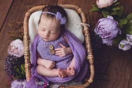 Newborn Mohair Latzshorts flieder