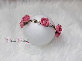 Blütenkranz für Newborns- ca. 2/3Monate  rosa/grün mit Perlen