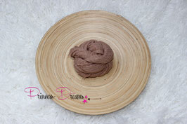 Musselin-Fransentuch braun/schlamm (19)