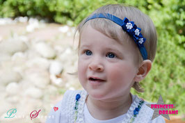 Haarband Blumen17 dunkelblau