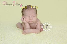 Blütenkranz für Newborns gelb
