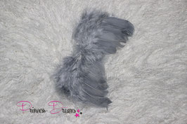 Federflügel 0-12 Monate grau