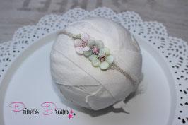 SHB Mohair Blumen Vintage grün/rosa