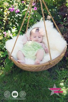 Rüschenbody Babygrün