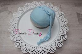 Zipfelmütze Mütze hellblau Newborn genäht Newborn-ca. 2 Monate