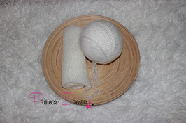 Set Mohair: Mütze & Wrap ivory