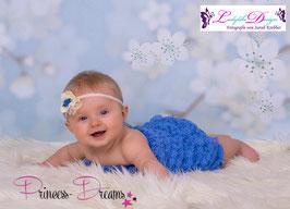 VHB622 creme Knopf blau