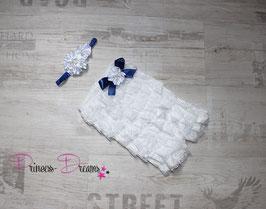 XMAS Weihnachts-Set Body weiß/blau & HB
