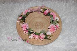 Neu Blumenkranz für Erwachsene rosa