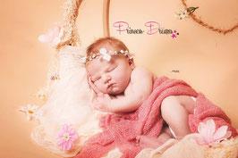 Blütenkranz für Newborns weiß