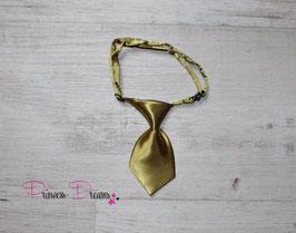Mini Krawatte gold 10cmx5cm