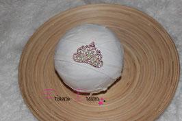 HB Glitzerkrone mit Perlen pink