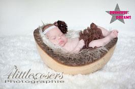 Rüschenshorts ab Geburt-12 Monate Braun