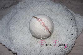 SHB Blume Vintage rosa/weiß gepflochten