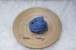 Musselin-Fransentuch jeansblau (8)