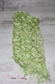 Dreiecks-Spitzentuch grün