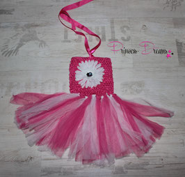 Tüllkleid weiß/pink
