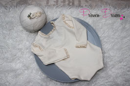 Rüschen Romper creme uni for Girls & HB