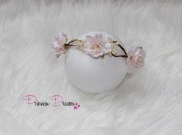 Blütenkranz für Newborns- ca. 2/3Monate  Natur/creme