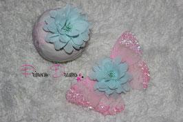 Flügel rosa/mint ab Newborn