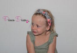 Schleifen-Stirnband ab KU40 grau /Flowers