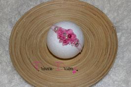 JHB Blume rosa/pink Perle/Glitzer