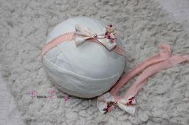 SHB Schleifenband Flower aprikot