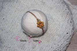 SHB Blume Vintage ocker gepflochten