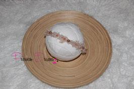 SHB Tan mit Perlen Fransenwolle