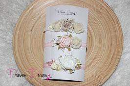SHB Blumen Set Vintage beige aprikot weiß
