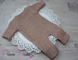 Strick Overall lang beige