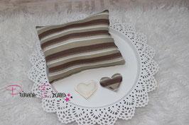 Pillow braun/khaki/creme