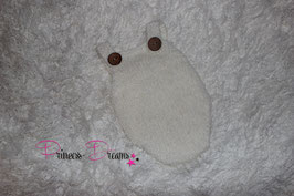 Newborn Mohair Overall ivory/creme